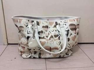 Authentic Burberry Nova Check Heart Tote Bag