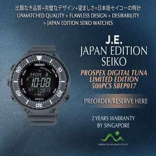 SEIKO JAPAN EDITION PROSPEX DIGITAL TUNA SOLAR LIMITED EDITION 500PCS SBEP017 MATT