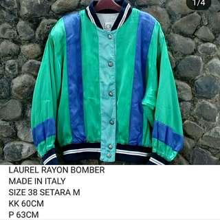 Jaket bomber rayon silk LAUREL made in italy