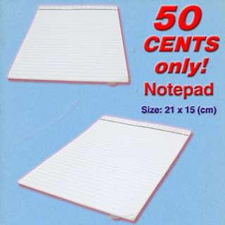 Notepad *Simple White Design No-Frills. 2019 YEAR CLEARANCE SALE, Lowest Prices at 50 cents each only!*