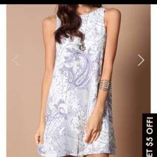 TSW WHITNEY SHIFT DRESS IN PAISLEY