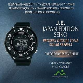 SEIKO JAPAN EDITION PROSPEX DIGITAL TUNA SOLAR SBEP013 BLACK MATT