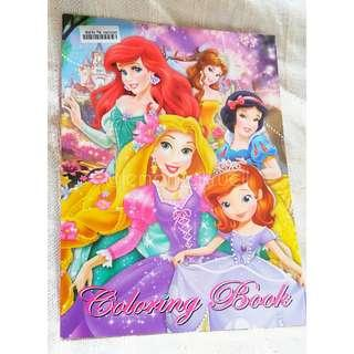 Buku mewarnai karakter princess - coloring book