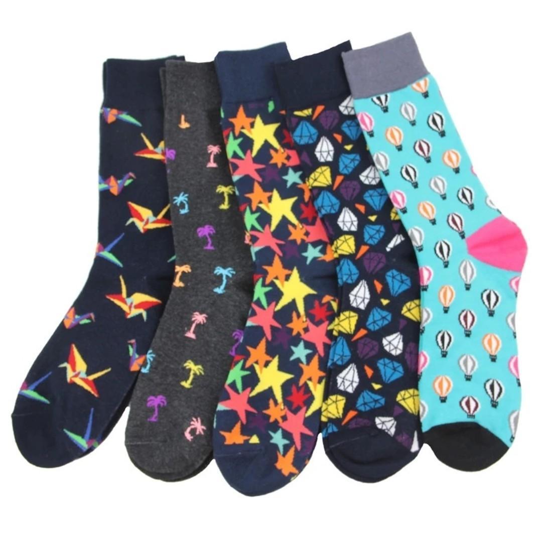 bb5c33a7df51a 2 PAIRS FOR $10) Cute Printed Socks Women Men Socks Fun Socks, Men's ...