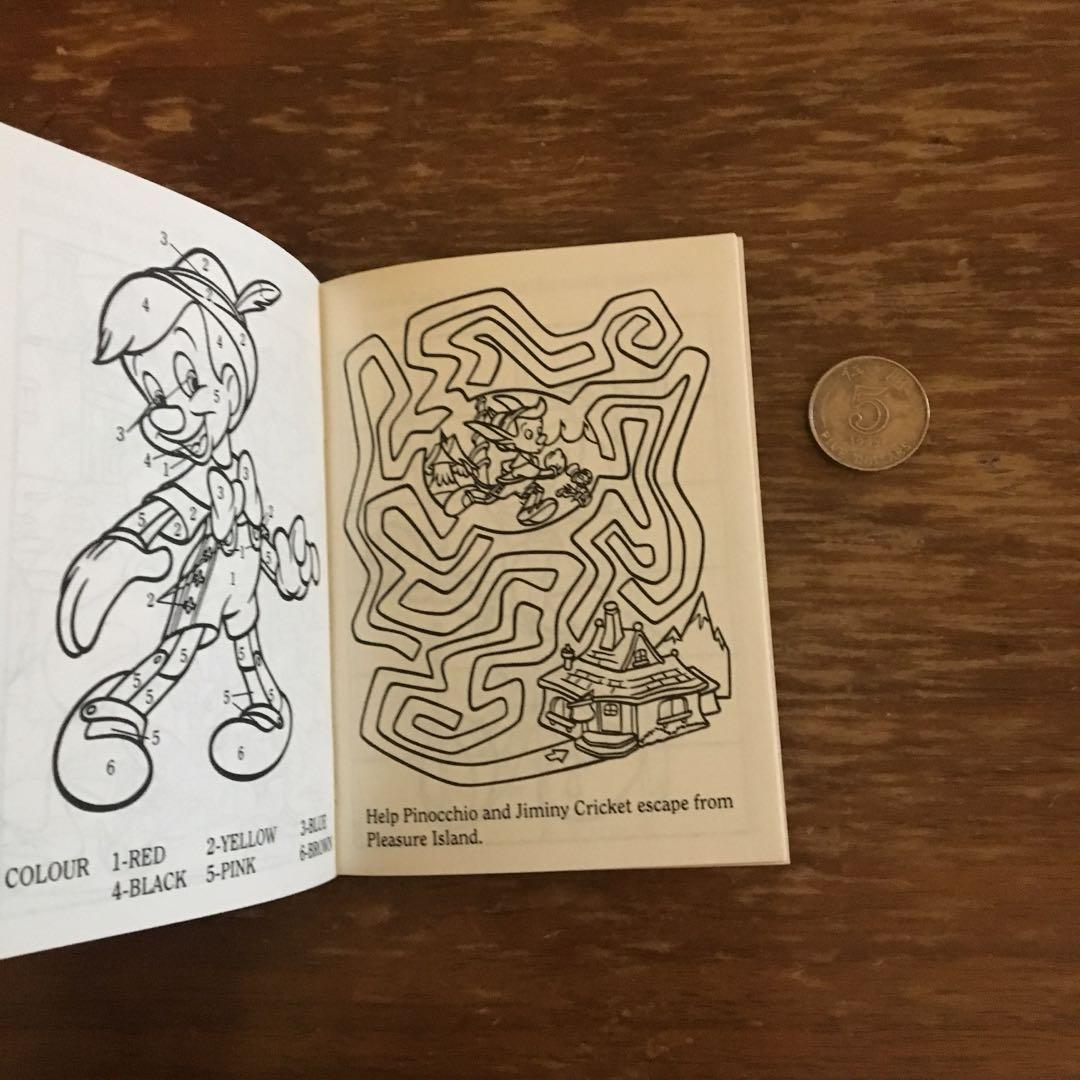 (包郵)全新 Disney's Pinocchio Fun Book 懷舊 絕版 1993年