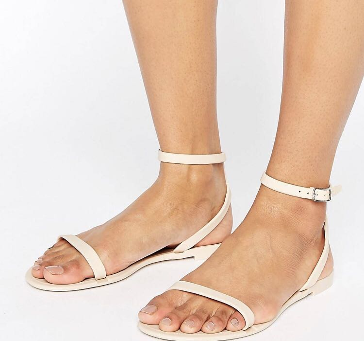 33ce1b2bc25 Asos Feline Jelly Flat Sandals UK4, Women's Fashion, Shoes, Flats ...