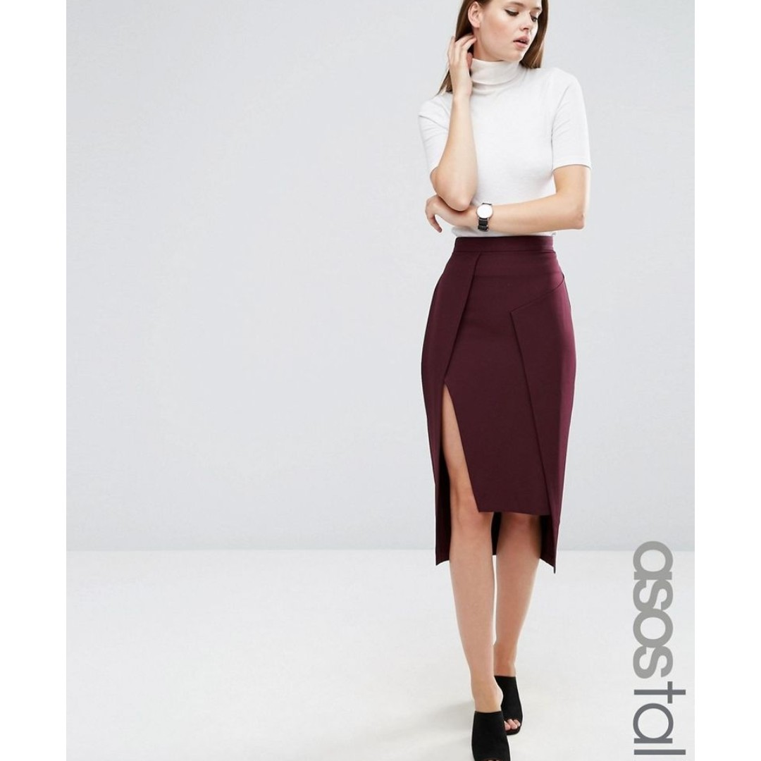 3089a7c742f Asos TALL Asymmetric Pencil Skirt (UK8)