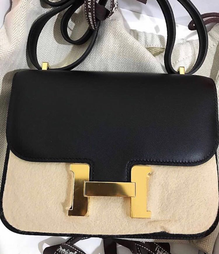 9e05c2442139 💓💯Authentic HERMÈS CONSTANCE 18 BLACK SWIFT in GOLD HARDWARE ...