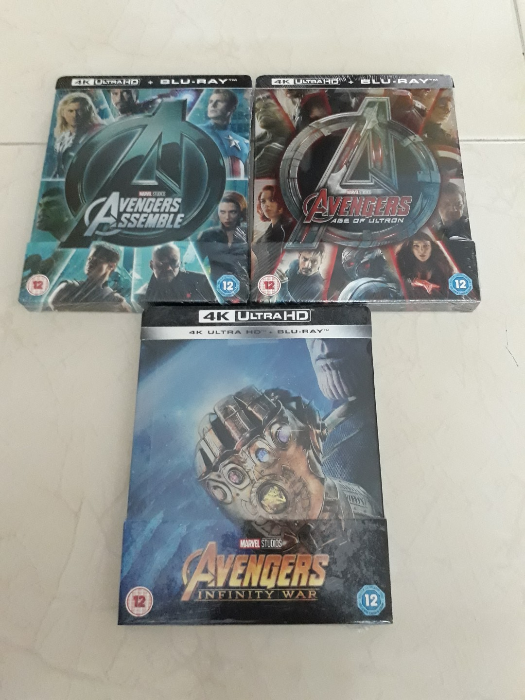 🌞Special Price: Avenger 1,2,3 4k Bluray+Bluray Collector STEELBOOK  (NEW,Mint-wrapped and Not Open)