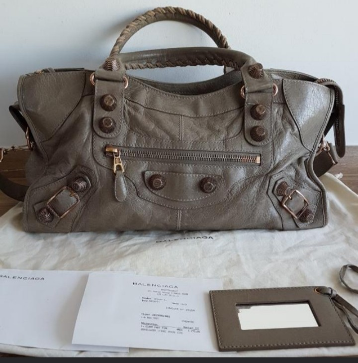 9ca99341fb6a Balenciaga Part Time Giant 21 Rose Gold Hardware 2011 Papyrus ...