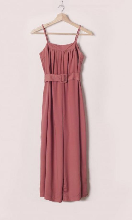 9c4f14f2be5 BN FashMob Elora Belted Jumpsuit in Rose Pink