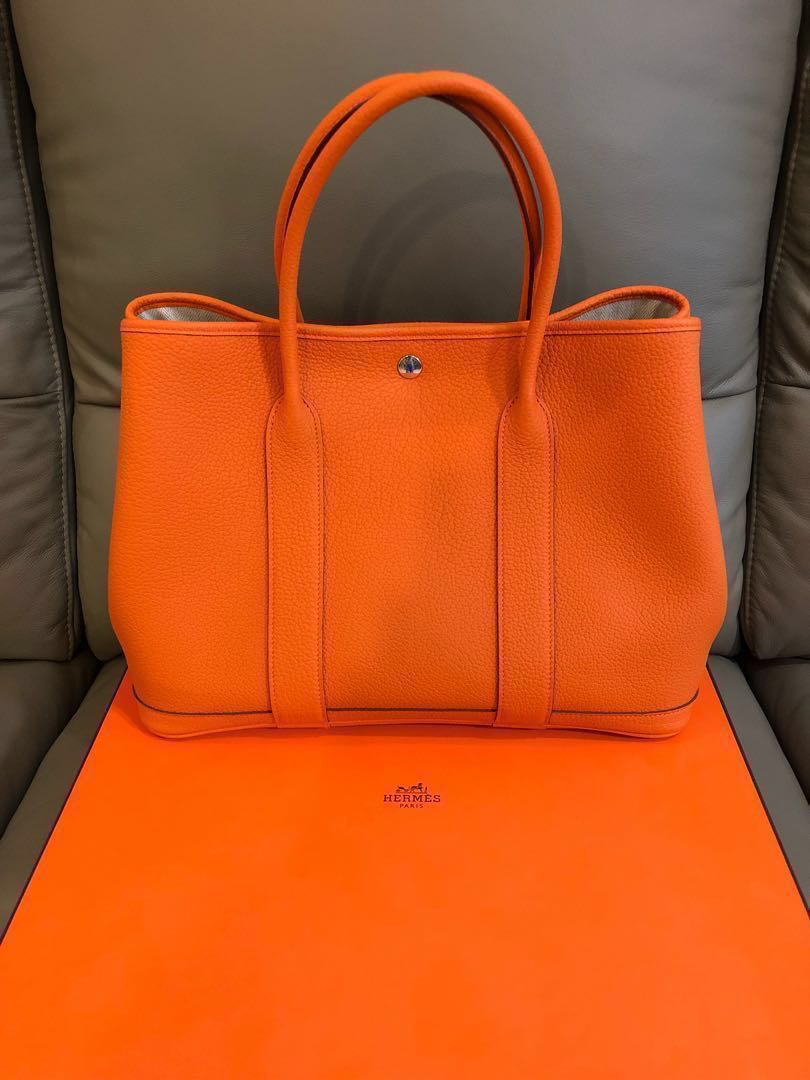 174db38a5247 Brand new Hermes Garden Party 36 Orange Poppy (full leather ...