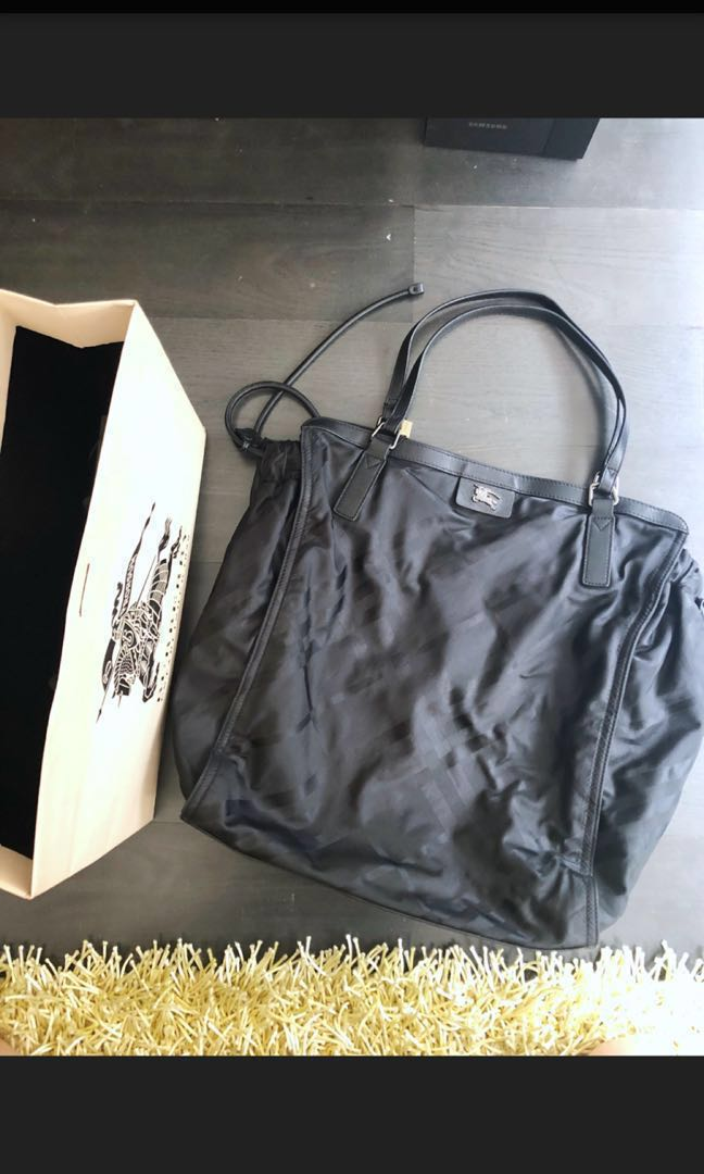Burberry Nylon Check Buckleigh Packable Tote Bag 8407b4bf41078