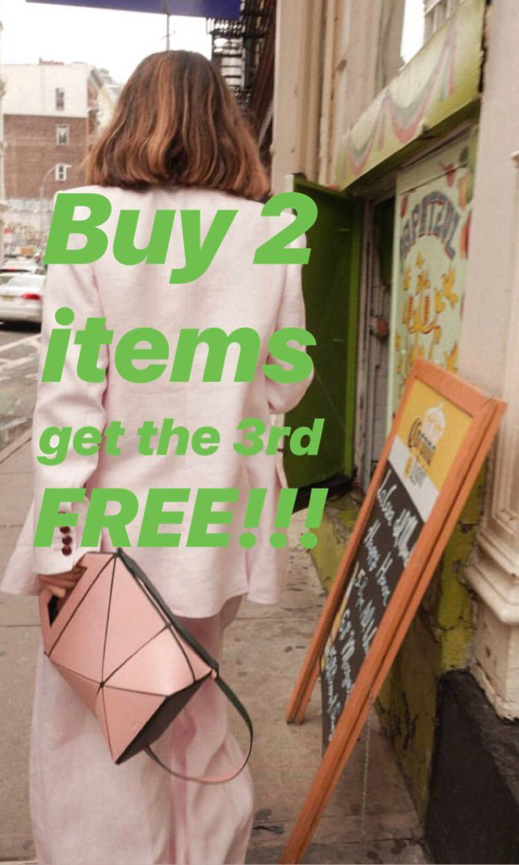 Buy 2 items get the 3rd free!!!