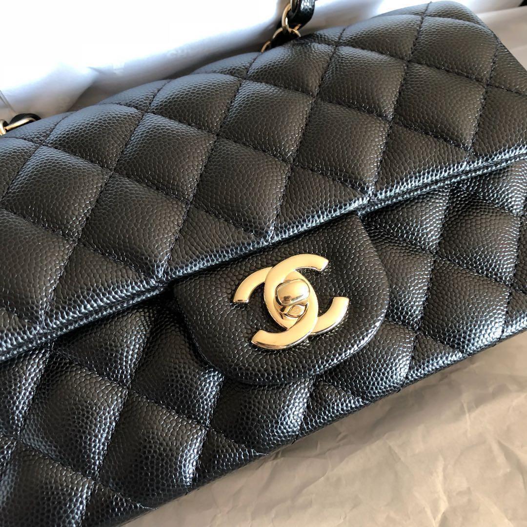 a411973cfc74 Chanel 17B black mini