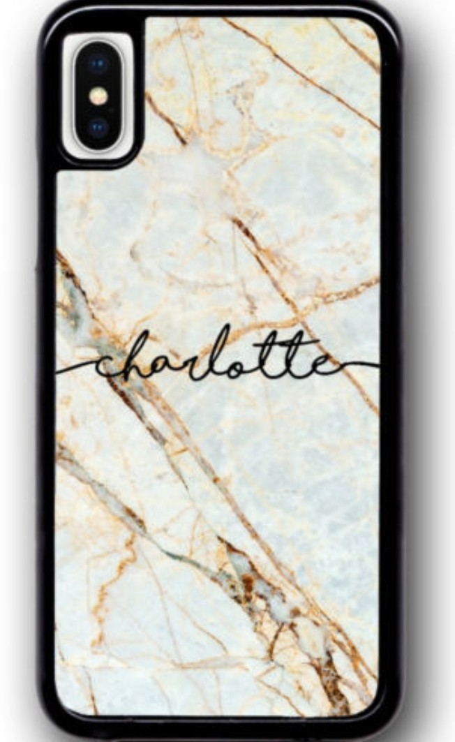 new style d78cd 59f0f Custom Marble Case Cover with personalised name for iphone