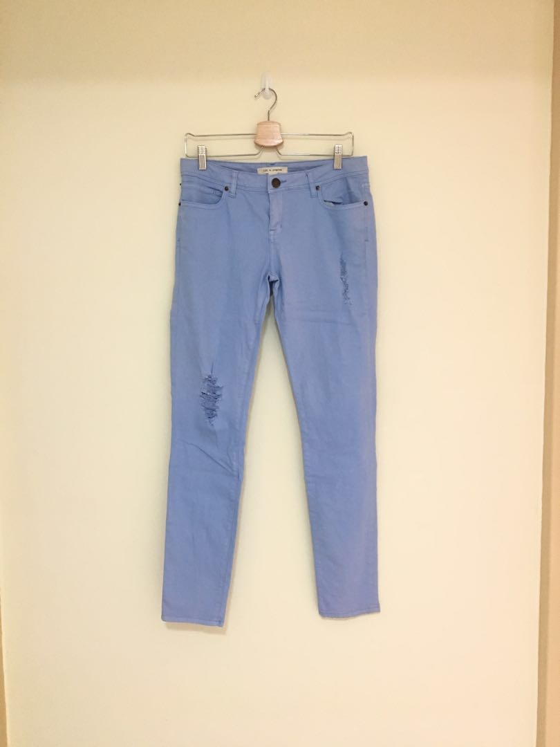 a7af34f8cb923 Forever 21 Distressed jeans in sky blue, Women's Fashion, Clothes, Pants,  Jeans & Shorts on Carousell