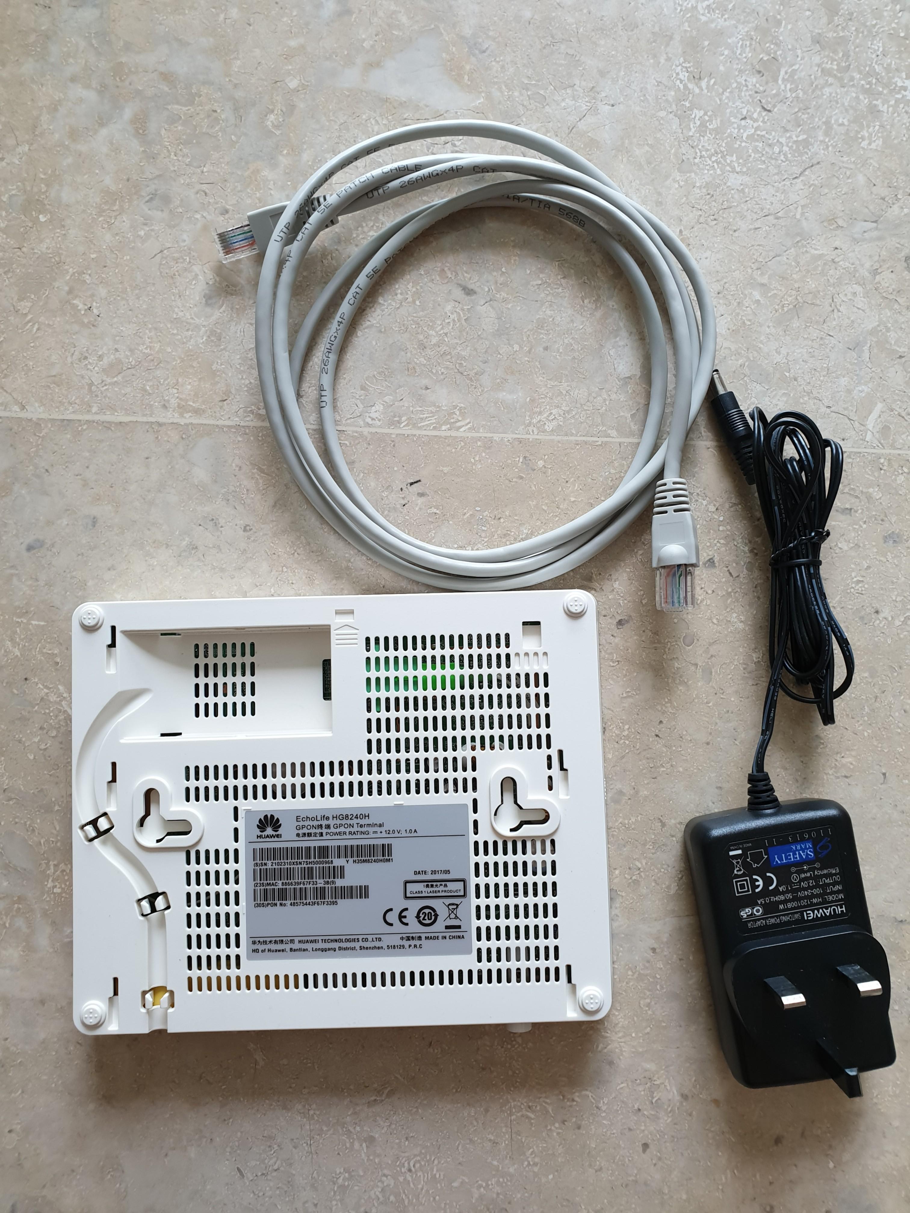 Huawei EchoLife HG8240H Fiber Modem