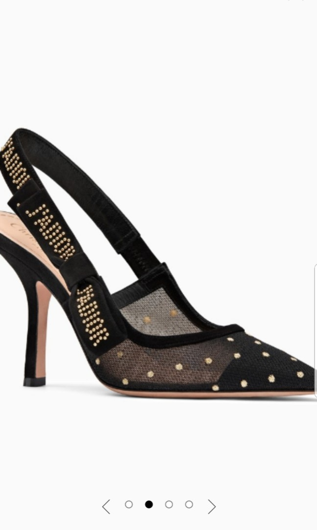 8e247b062cb Dior J ADIOR HIGH-HEEL SHOE IN GOLD-TONE DOTTED SWISS