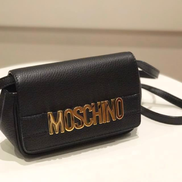 b4b4b8b27a Moschino Small Leather Shoulder Bag (Gently Used), Luxury, Bags ...