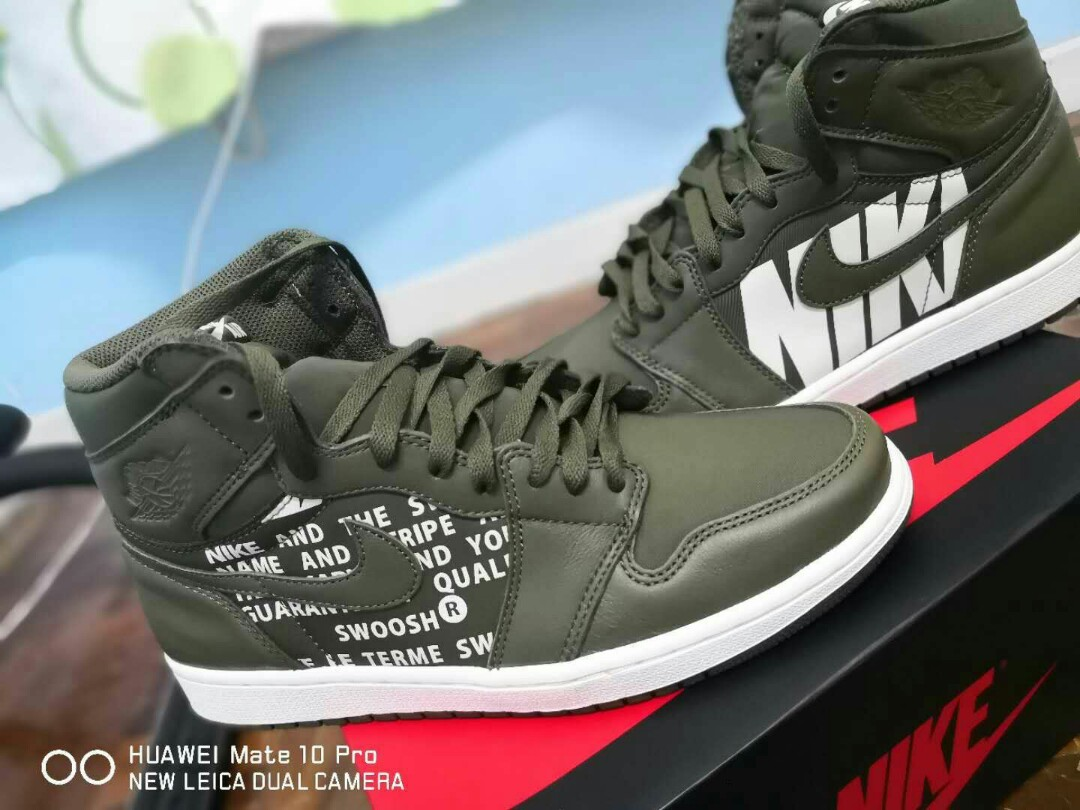 the latest a5a2b 52e7f Nike Air Jordan 1 Olive Canvas
