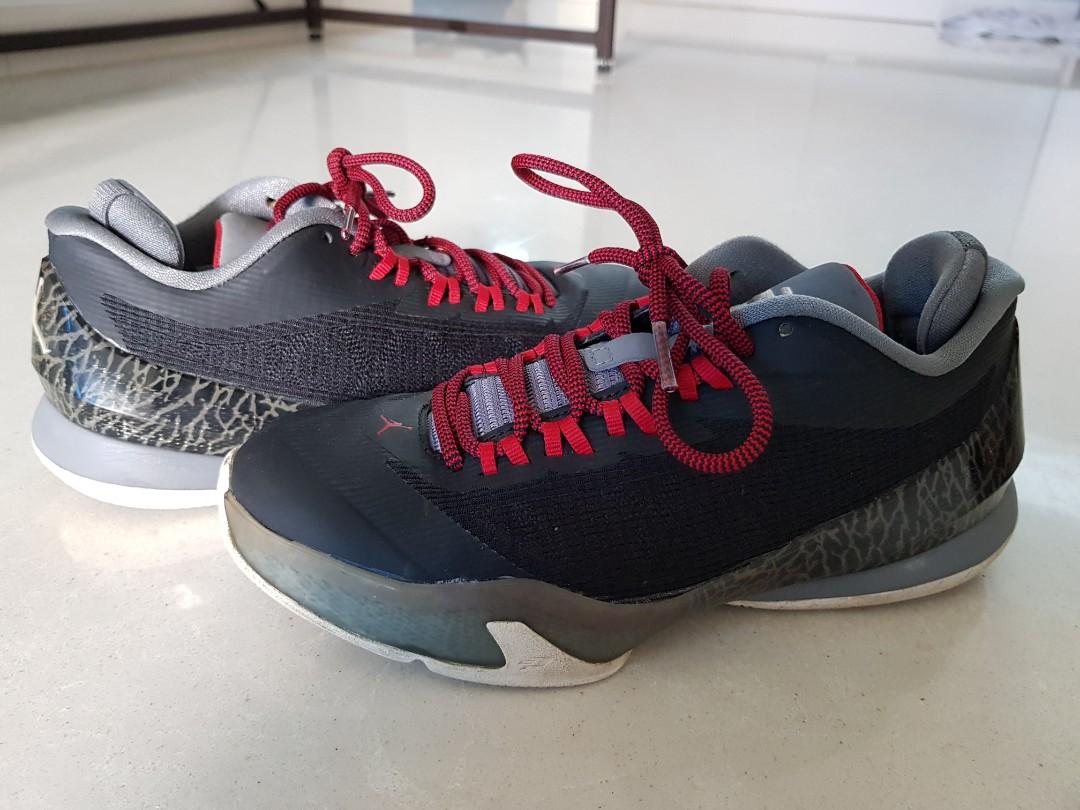 592957d360fcf4 Nike Jordan CP3.VIII in Black Cement. Kids size 35.5