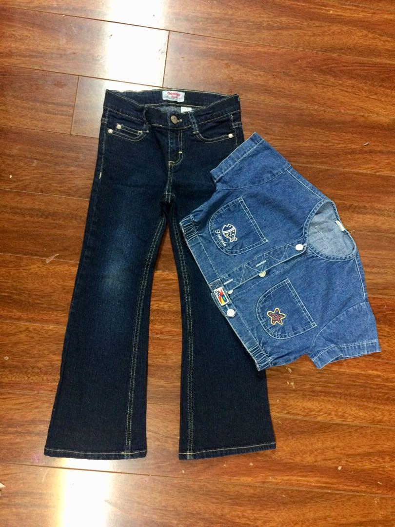 Oshkosh girls jeans, size 6x and jeans top, both for $10