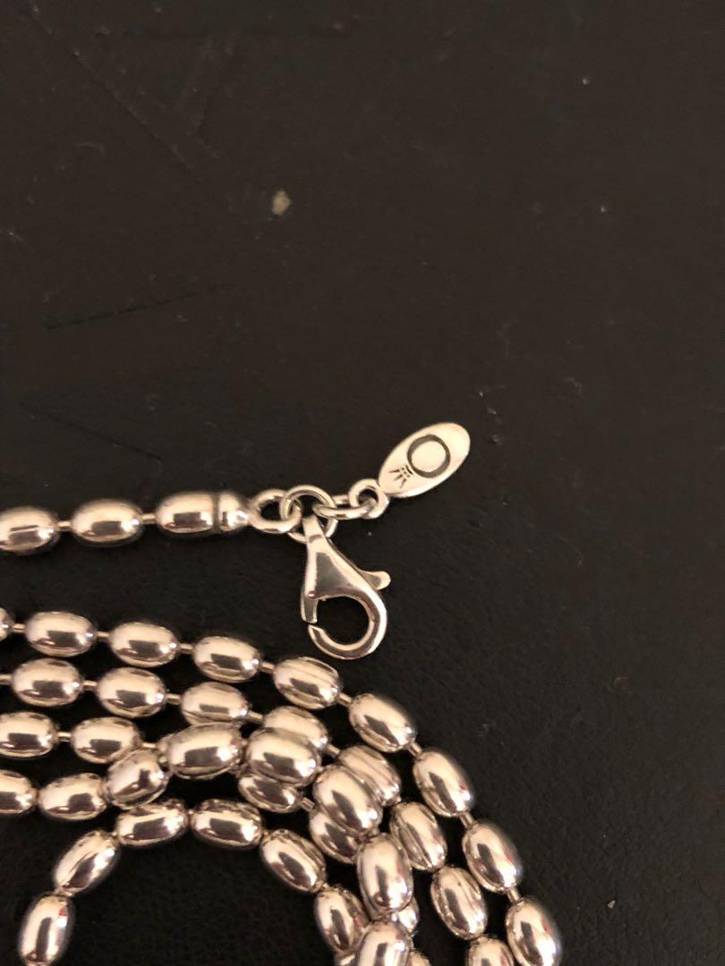 4375547c50bc8 Pandora 100cm Silver Rice Bead Necklace, Women's Fashion, Jewelry on ...