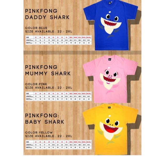 57eb92e4 Pink Fong Baby Shark Family T-shirt, Women's Fashion, Clothes, Tops on  Carousell