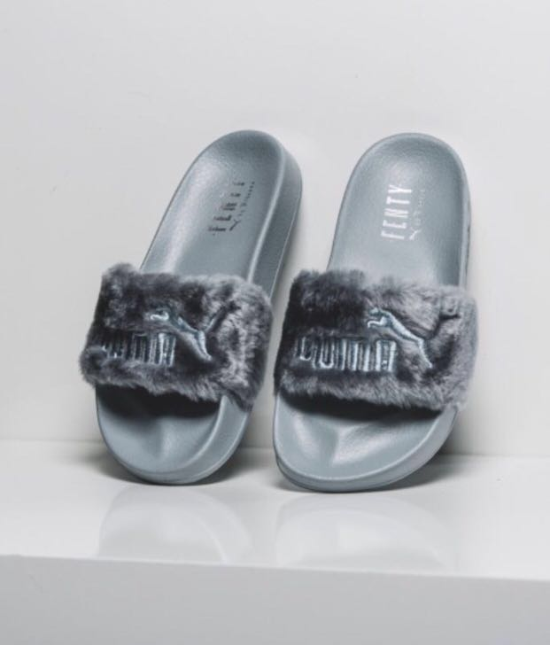 f30f9569c5e3 Puma Leadcat Fenty Fur Slides By Rihanna
