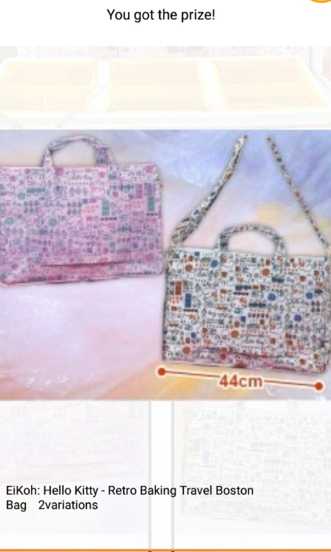 a6b280b54b Sanrio Hello Kitty Fodable Boston Bag - Toreba