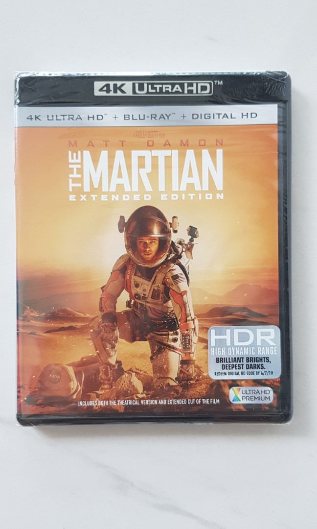 the martian extended edition 4k ultra hd