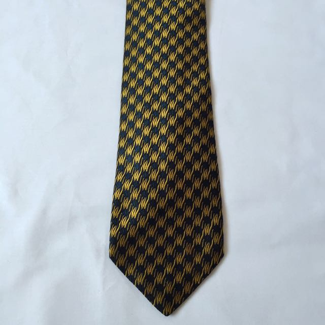 2a3b2ea3 Trussardi Action Silk Neck Tie Yellow Blue
