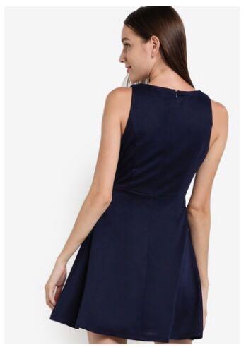 Zalora V Neck fit & flare dress