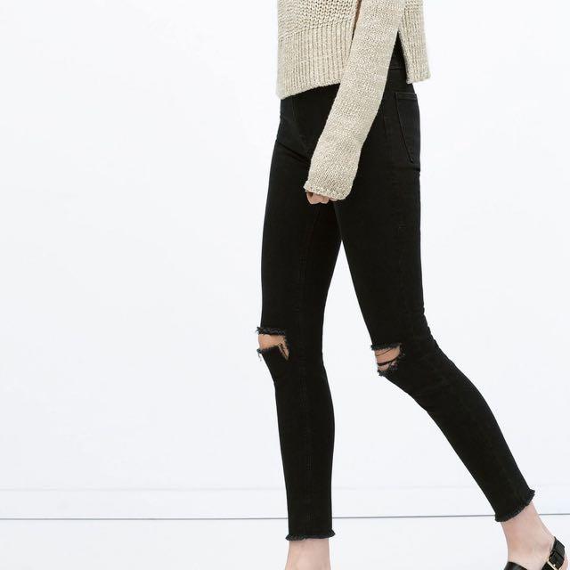 d9e2e239 Zara Ripped Skinny Jeans, Women's Fashion, Clothes, Pants, Jeans ...