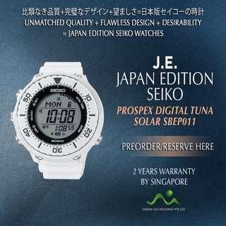 SEIKO JAPAN EDITION PROSPEX DIGITAL TUNA SBEP011 SOLAR WHITE