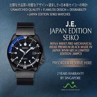 SEIKO JAPAN EDITION X SONY WENA MECHANICAL WRIST PRO PREMIUM BLACK WNW-SB13A LIMITED EDITION 300PCS