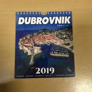 Dubrovnik 2019 calendar