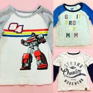 2pcs CottonOn & 1 Carters t-shirt