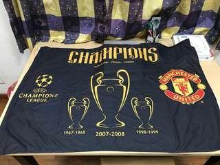 Manchester United 2007-2008 champions league winning season flag