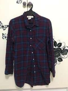 H&M Long Sleeved Checkered Polo (oversized)