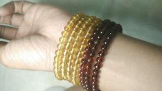 Genuine amber lady bracelet