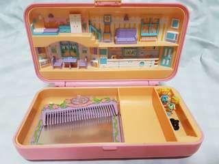 Vintage Polly Pocket Dress Up Case (Bluebird 1990)