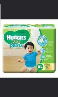 30 pieces Huggies Ultra Diapers