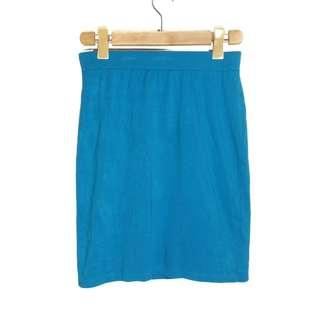 [COD] UNIQLO Blue Slip On Skirt [M] Women's Fashion Skirt