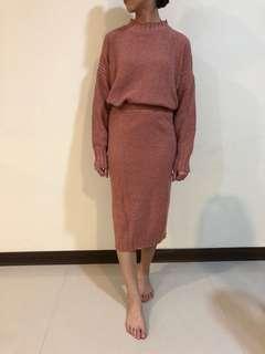 🚚 兩件式-粉色毛衣