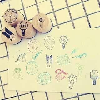 Kpop BTS wooden stamp (1pc)