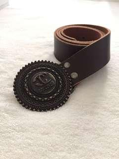 Authentic Just Cavalli unisex brown leather belt