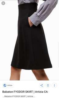 Aritzia Fydor black skirt w/pockets sz 00