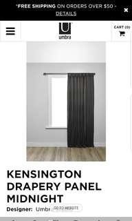 Brand new Umbra Kensington Drapery / curtains